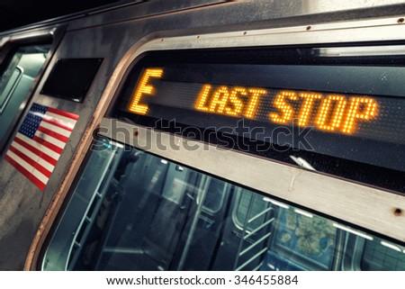 Last Stop - stock photo