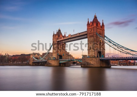 Last sunlight on Tower Bridge, London