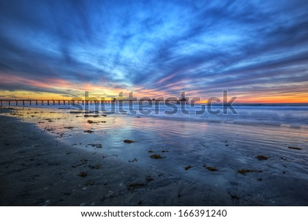 Last Sunset of November - stock photo