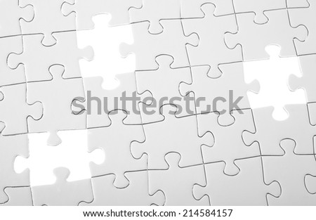 Last three pieces of white puzzle