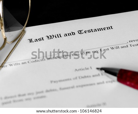Will And Testament Stock Images RoyaltyFree Images  Vectors