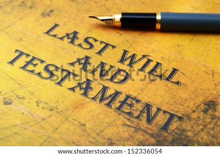 Last will and testament Selective Focus, Shallow Deep Of Field - stock photo