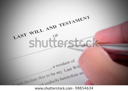 Last will and testment ready to be signed