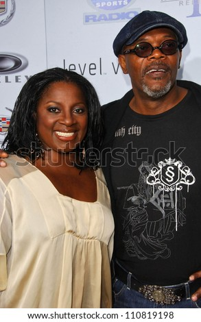 """LaTanya Richardson and Samuel L Jackson at the Los Angeles Premiere of """"Resurrecting The Champ"""". Samuel Goldwyn Theater, Beverly Hills, CA. 08-22-07 - stock photo"""