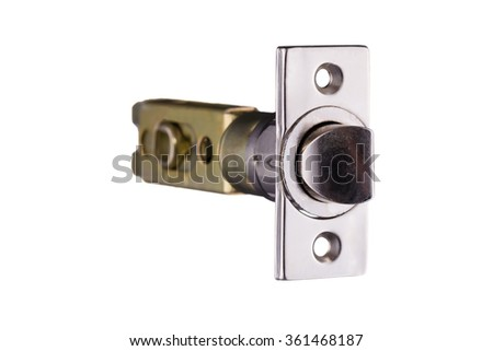 Latch mechanism details isolated on white background