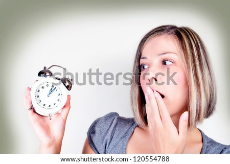 late - stock photo