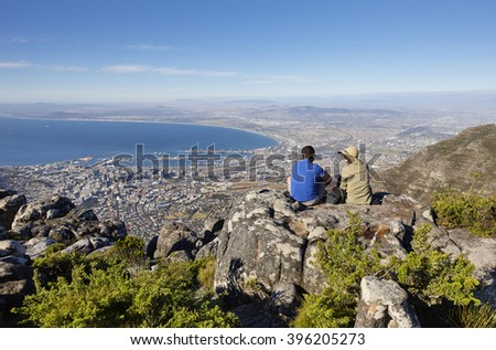 Late afternoon on Table Mountain, Cape Town, South Africa
