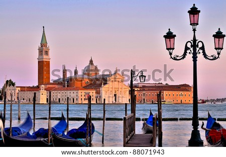 late afternoon  view to San Giorgio Maggiore venice, Italy - stock photo