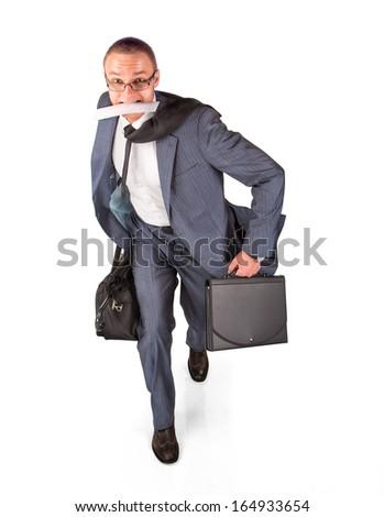 Late man - stock photo