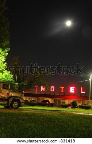 Late Night Motel - stock photo