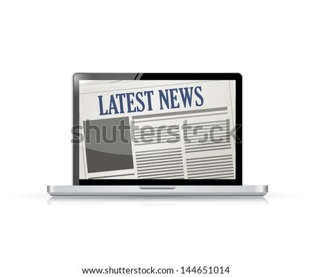 Latest News and technology illustration design over white