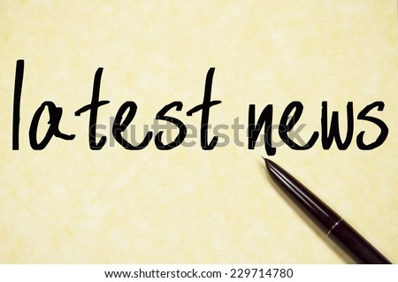 latest news text write on paper  - stock photo