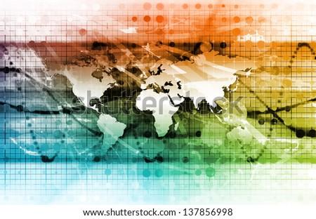 Latest Technology Around the World as Art - stock photo