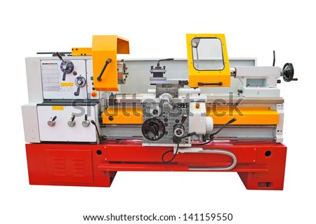 Lathe isolated under the white background - stock photo