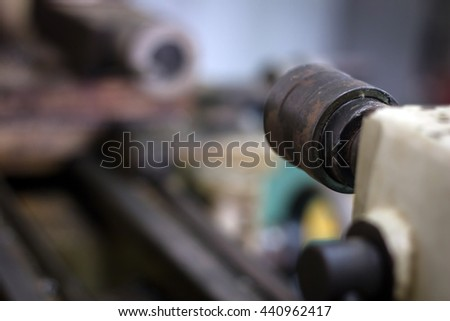 Lathe machining old and dirty
