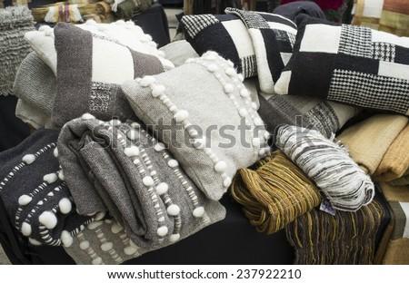 latin american craft telar fabrics - stock photo