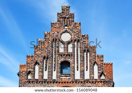 Latin School in Ystad in southern Sweden are built around the year 1500 - stock photo