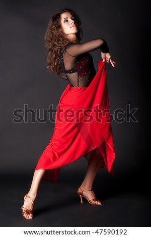 Latino dancer isolated on black