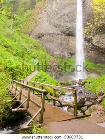 Latourell Falls - stock photo