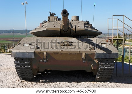 Latrun, ISRAEL - JANUARY 09: New Israeli Merkava Mark IV tank on display January 09, 2010 in Latrun Armored Corps museum, Israel