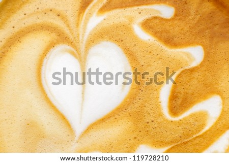 Latte Art, coffee - stock photo