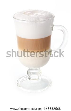 Latte on white background - stock photo