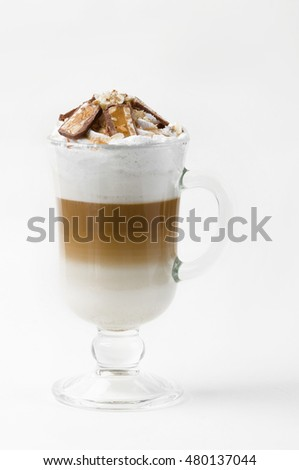 Latte with chocolate