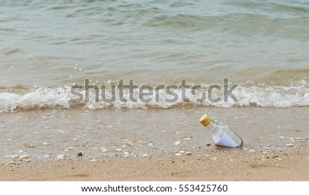 latter  in the bottle on the beach, bottle with a message, Message in bottle, love latter
