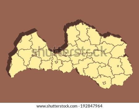Latvia Map - stock photo