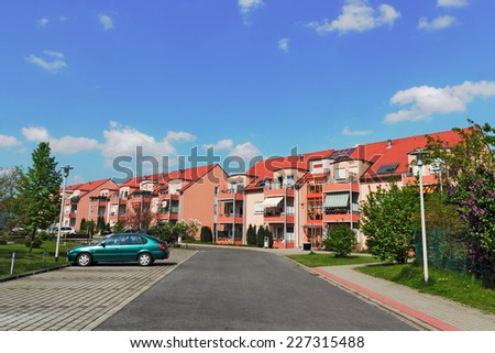 Lauchhammer urbanization - stock photo