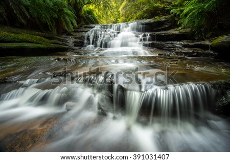 Lauera cascade in Blue mountains.