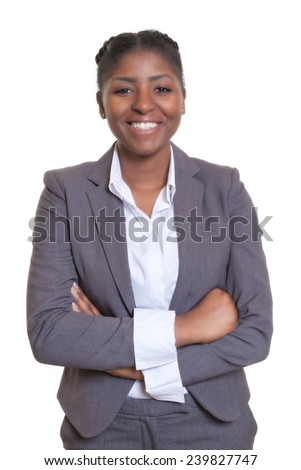 Laughing african businesswoman