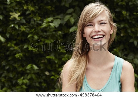 Laughing and beautiful woman, portrait