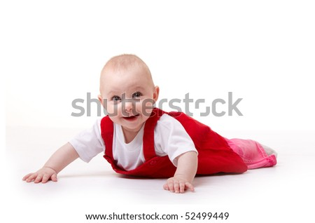 laughing baby isolated on white