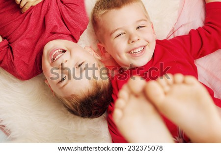 Laughing brothers - stock photo