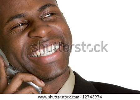 Laughing Businessman on Phone