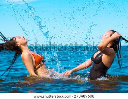 Laughing Carefree Couple Enjoying  - stock photo