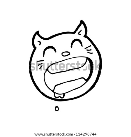 laughing cat cartoon