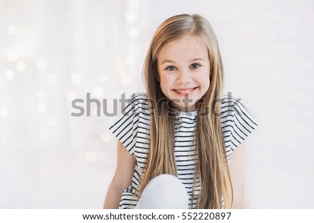 Laughing cute girl portrait