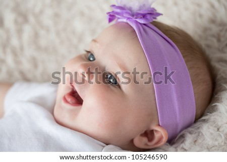 Laughing Infant Baby [6 Month Old] - stock photo
