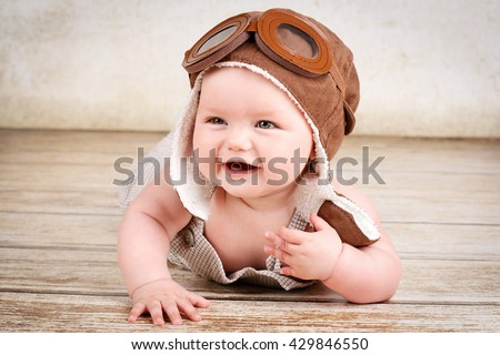 Laughing little baby - stock photo