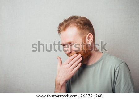 Laughing man with beard  - stock photo