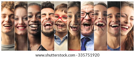 Laughing people - stock photo