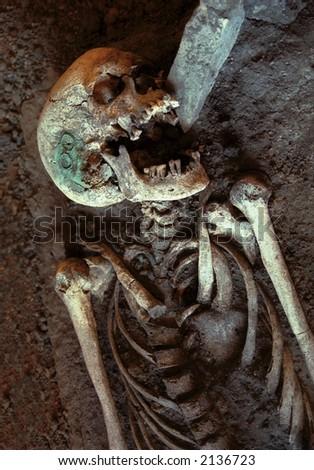 Laughing Skeleton - stock photo