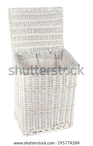 Laundry basket isolated on white