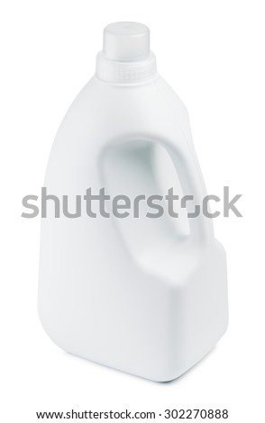laundry detergent bottle, isolated on white background - stock photo