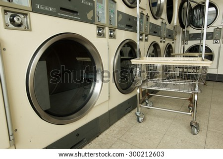 Laundry Machine and a cart in store