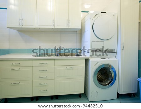 laundry room in an apartment