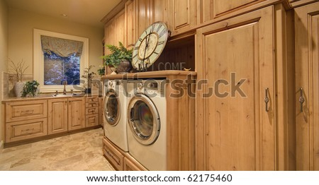 Laundry Room in Luxury Home - stock photo
