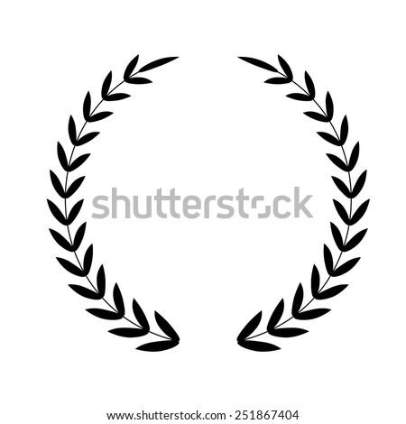 Laurel Wreath.  icon - stock photo